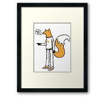 Choosy fox Framed Print