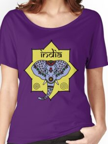 Majestic Elephant - Red Women's Relaxed Fit T-Shirt