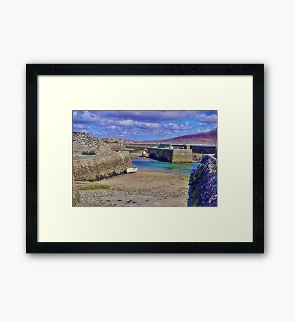 Empty Harbour Framed Print