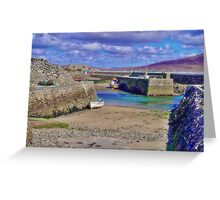 Empty Harbour Greeting Card