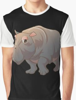 Cute cartoon hippo Graphic T-Shirt