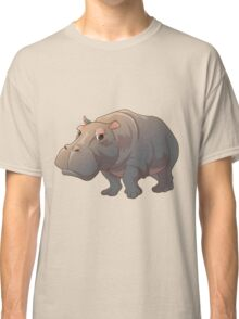 Cute cartoon hippo Classic T-Shirt