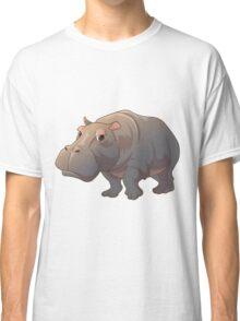 Cute cartoon hippo Classic T-Shirt