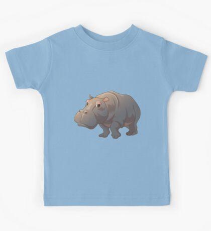 Cute cartoon hippo Kids Tee