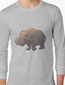 Cute cartoon hippo Long Sleeve T-Shirt