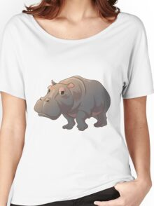 Cute cartoon hippo Women's Relaxed Fit T-Shirt