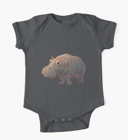 Cute cartoon hippo One Piece - Short Sleeve