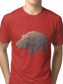 Cute cartoon hippo Tri-blend T-Shirt