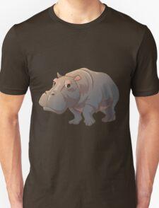 Cute cartoon hippo Unisex T-Shirt