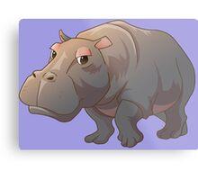 Cute cartoon hippo Metal Print