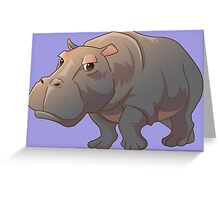 Cute cartoon hippo Greeting Card
