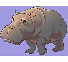 Cute cartoon hippo Photographic Print