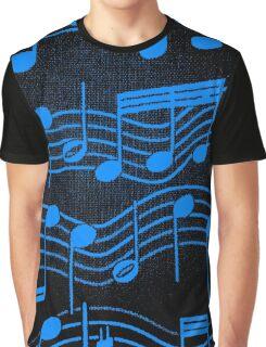 SHEET MUSIC-BLUE Graphic T-Shirt