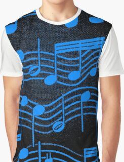SHEET MUSIC-BLUE Graphic T-Shirt