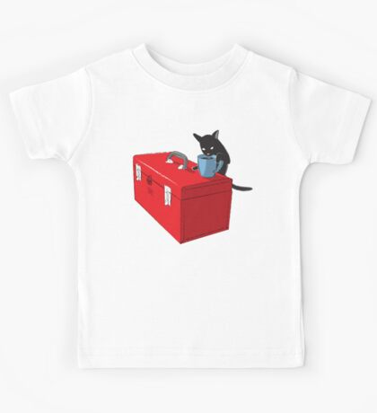Chat and Coffee on a Toolbox Kids Tee