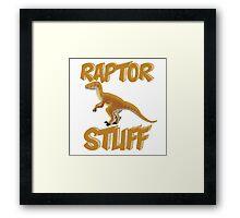 Raptor Stuff Framed Print
