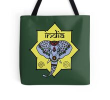 Majestic Elephant - Green Tote Bag