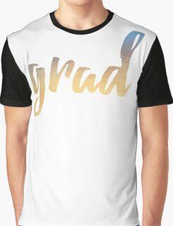 Grad   yellow brush type Graphic T-Shirt