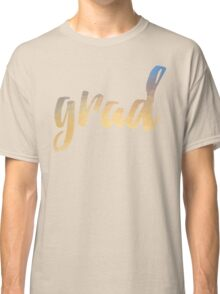Grad | yellow brush type Classic T-Shirt