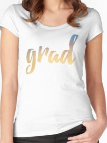 Grad | yellow brush type Women's Fitted Scoop T-Shirt