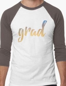 Grad | yellow brush type Men's Baseball ¾ T-Shirt