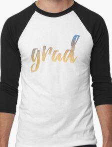 Grad | yellow brush type Men's Baseball ¾ T-Shirt