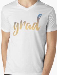 Grad | yellow brush type Mens V-Neck T-Shirt