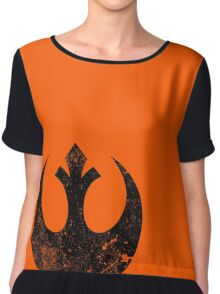 Distressed Rebel Alliance Logo Chiffon Top