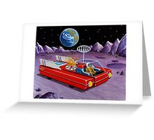MOON ROVER Greeting Card