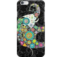 Colorful Retro Floral Elephant Design iPhone Case/Skin