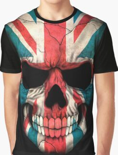 British Flag Skull  Graphic T-Shirt