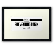 Login Framed Print