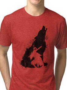 The walker of abyss VERSION BLACK Tri-blend T-Shirt