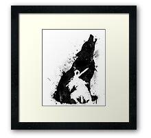 The walker of abyss VERSION BLACK Framed Print