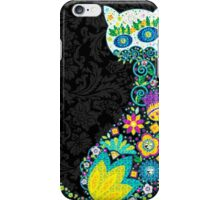 Colorful Floral Cat iPhone Case/Skin