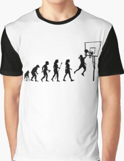 Funny Women's Basketball Evolution Graphic T-Shirt