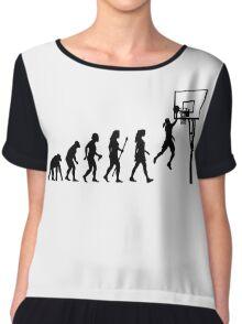 Funny Women's Basketball Evolution Chiffon Top
