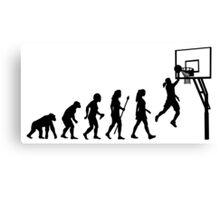Funny Women's Basketball Evolution Canvas Print