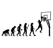 Funny Women's Basketball Evolution Photographic Print