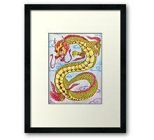 Golden Ruby Ryu Framed Print