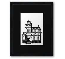 Victorian House - black & white Framed Print