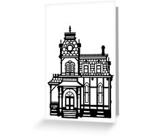 Victorian House - black & white Greeting Card