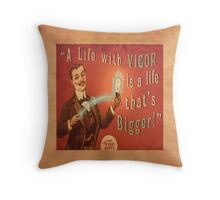 BioShock Infinite – A Life with Vigor is a Life that's Bigger! Poster Throw Pillow