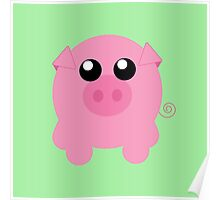 Cute Pig Poster