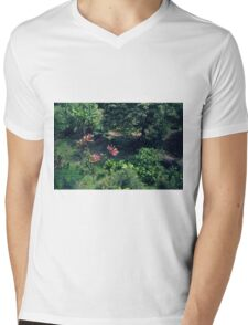 Take A Walk in the Garden Mens V-Neck T-Shirt