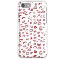 mouth pattern iPhone Case/Skin