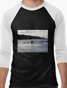Oyster Farm at Dusk Men's Baseball ¾ T-Shirt