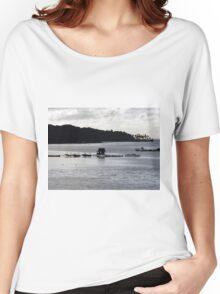 Oyster Farm at Dusk Women's Relaxed Fit T-Shirt