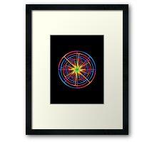 Psychedelic Pinwheel  Framed Print