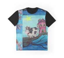 Cow In A Tree Graphic T-Shirt